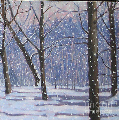 Painting - Lawrence Park Triptych Part 3 by Joan McGivney