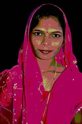 India Ink Wall Art - Digital Art - Lay In Pink by Vijay Sharon Govender
