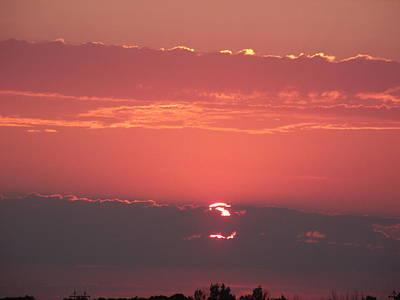 Layered Sunset  Art Print