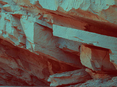 Layers Of Rock Art Print