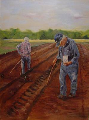 Art Print featuring the painting Laying Off Rows by Carol Berning