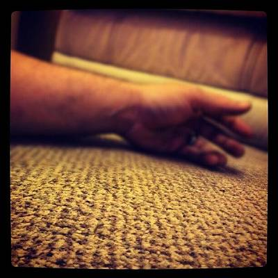 Horror Wall Art - Photograph - #laying On The #floor Can Sometimes by Craig Dyson