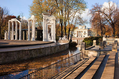 Lazienki Park In Warsaw Art Print by Artur Bogacki