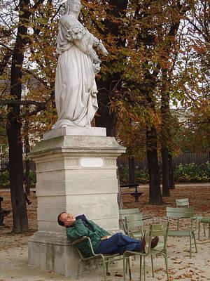 Lazing In Luxumbourg Gardens Original by Jan Rooney