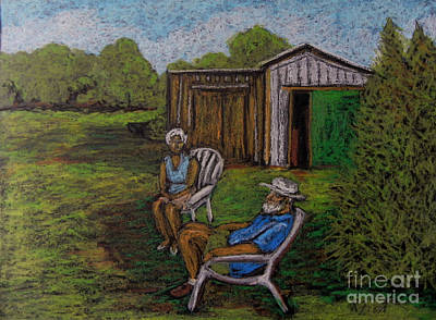 Lazy Day On The Farm Art Print by Reb Frost