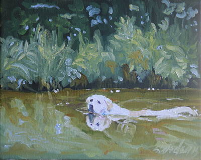Painting - Lazy Day Swim by Sheila Wedegis