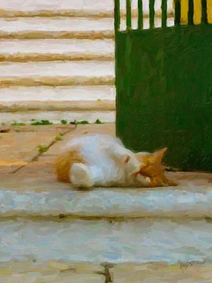 Briex Digital Art - Lazy Greek by Nop Briex