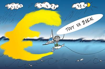 Euro Zone Mixed Media - le Bailout Grec - Tout Va Bien by OptionsClick BlogArt