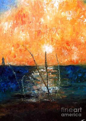 Angela Pari Dominic Chumroo Painting - Le Long Des Plages  by Ayasha Loya