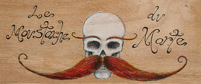 Painting - Le Mustache Du Morte by Canis Canon