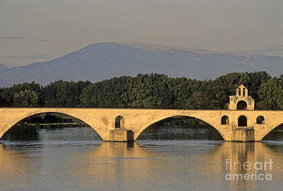 Le Pont Benezet.avignon. Provence. Art Print by Bernard Jaubert