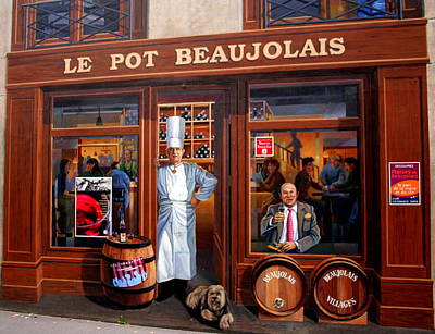 Le Pot Beaujolais Art Print