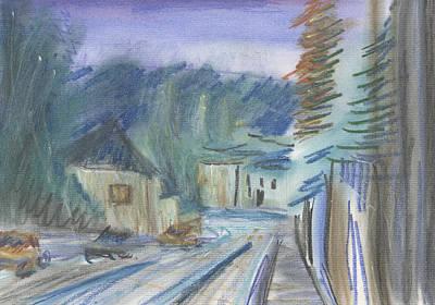 Pastel - Le Rue Saint Maur by Denny Morreale