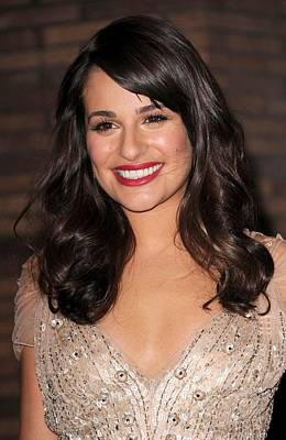 Lea Michele Photograph - Lea Michele At Arrivals For Glamour by Everett