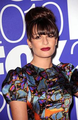 In Attendance Photograph - Lea Michele In Attendance For Fox 2010 by Everett