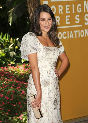 Fluttering Photograph - Lea Michele Wearing A Valentino Resort by Everett