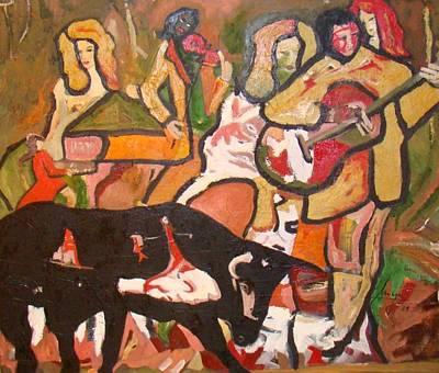 Violine Painting - Lead  For  Torreros by Milan Nikolcin