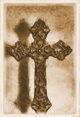 Mercy Mixed Media - Lead Me To The Cross 2 by Angelina Vick