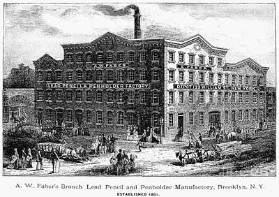 Lead Pencil Factory Art Print by Granger
