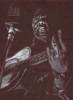 Leadbelly Art Print by Kathleen Kelly Thompson