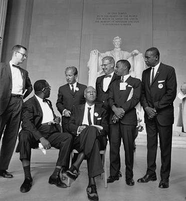 Leaders Of The 1963 March On Washington Art Print by Everett