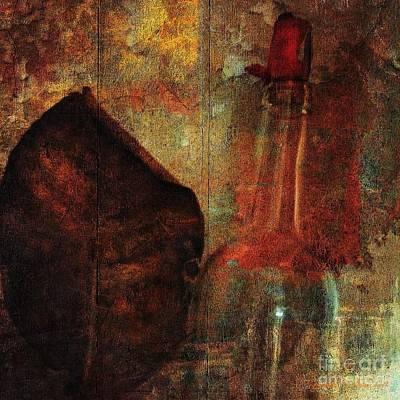 Faniart Africa America Digital Art - Leaf But I Won't Drink by Fania Simon
