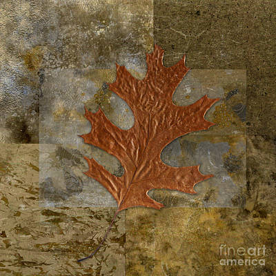 Oak Leaf Digital Art - Leaf Life 01 -brown 01b2 by Variance Collections
