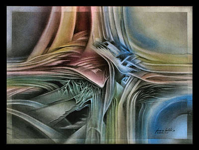 Pastel - Leafsawaliscapea 2009 by Glenn Bautista