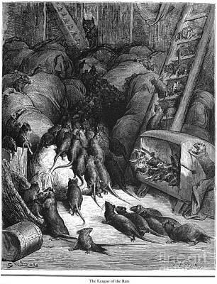 League Of Rats, 1868 Art Print by Granger