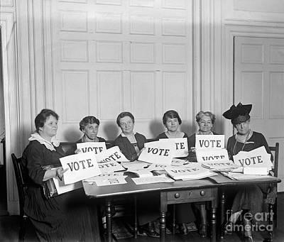 League Of Women Voters Art Print by Granger