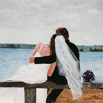 Painting - Lean On Me by Betty-Anne McDonald