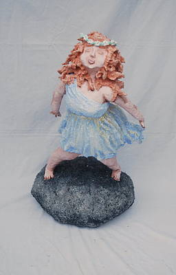 Chubbyart Sculpture - Leap Of Faith by Alison  Galvan