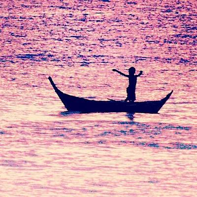 Travel Wall Art - Photograph - Learning To Fly.. #thailand #boat by A Rey