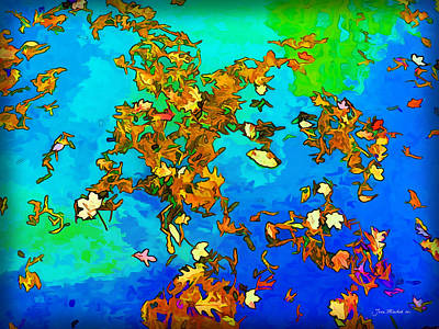 Photograph - Leaves In A Pond by Joan  Minchak