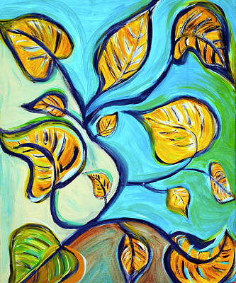 Mixed Media - Leaves Of Hope by Artista Elisabet