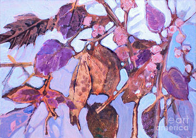 Painting - Leaves Series 5 by Diane Ursin