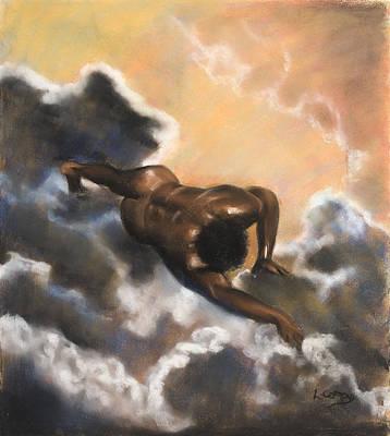 Leaving Eden  Adam Print by L Cooper