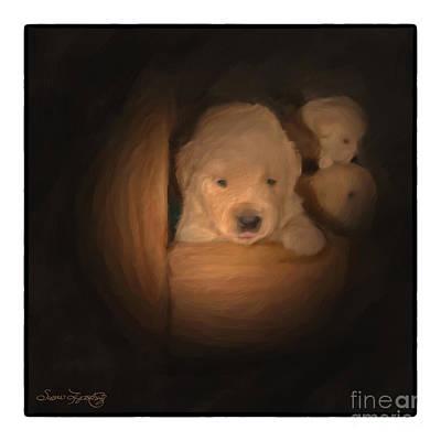 Golden Retriever Digital Art - Leaving Home by Susan  Lipschutz