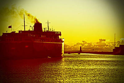 Art Print featuring the photograph Leaving Port by Randall  Cogle