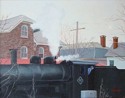 Painting - Leaving The Station by Robert Henne