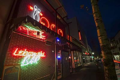 Lebowski Photograph - Lebowski Bar At Night by Sven Brogren