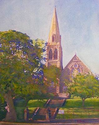 Painting - Leckie Memorial  Church  Peebles Scotland by Richard James Digance