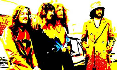 Led Zeppelin Art Print by Paula Sharlea