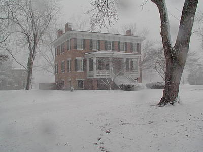 Photograph - Lee Hall Mansion In Winter by Catherine Kurchinski