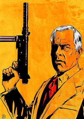 Cut Drawing - Lee Marvin by Giuseppe Cristiano