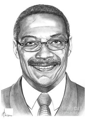 Famous People Drawing - Lee Roy Selmon by Murphy Elliott