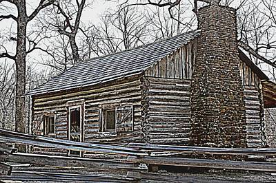 New Years - Lees Cabin by Betty Northcutt