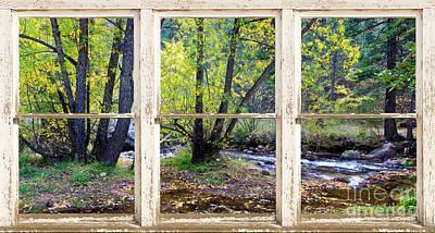 Left Hand Creek Rustic Window View Colorado Art Print by James BO  Insogna
