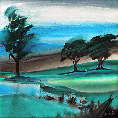 Painting - Legends Golf Course 1998 by Glenn Bautista