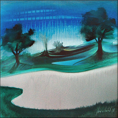 Painting - Legends Golf Course B 1998 by Glenn Bautista